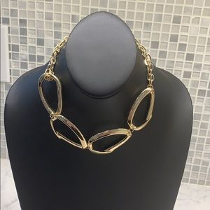 Halogen New (U) gold choker necklace